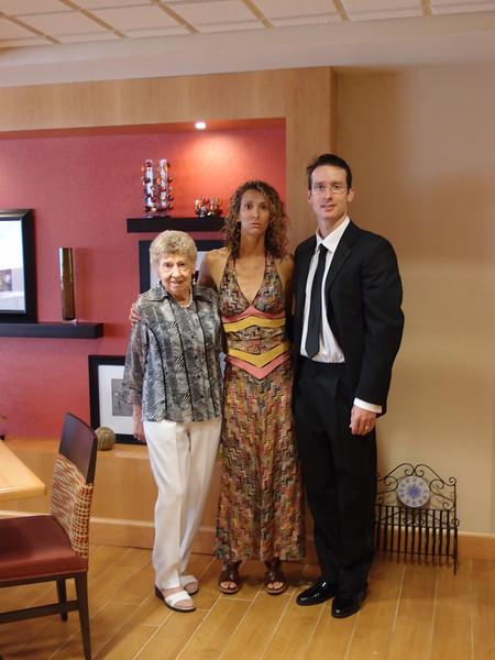 Irene, Nicole, Phil - hotel lobby before leaving for wedding