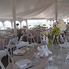 Inside tent at Khe's wedding