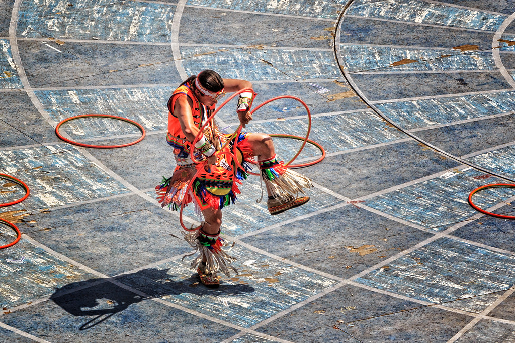 "Hoop Dancer ""Tearing up The Floor"""
