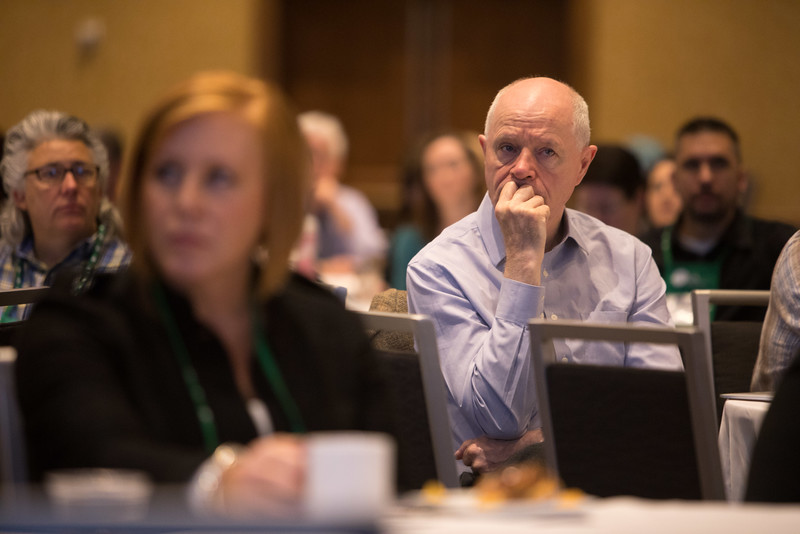 Minneapolis, MN - The PAEA 2016 Education Forum 2016 - Attendees listen as Janis Orlowski speaks during the general session at the Physician Assistant Education Association Meeting here today, Friday October 14, 2016. Photo by © PAEA/Scott Morgan 2016 Contact Info: todd@medmeetingimages.com Keywords: