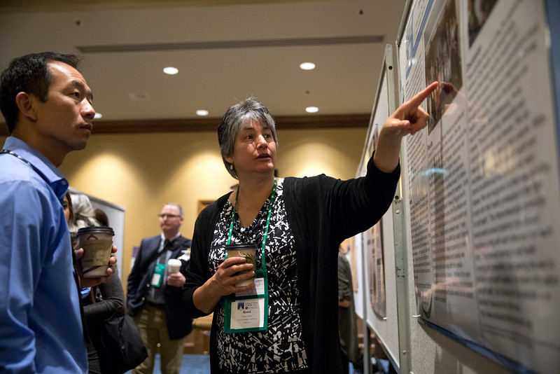 Minneapolis, MN - The PAEA 2016 Education Forum 2016 - Attendees at the poster session at the Physician Assistant Education Association Meeting here today, Friday October 14, 2016. Photo by © PAEA/Scott Morgan 2016 Contact Info: todd@medmeetingimages.com Keywords:
