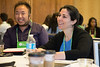 Minneapolis, MN - The PAEA 2016 Education Forum 2016 - Attendees talk during the Student welcome session at the Physician Assistant Education Association Meeting here today, Friday October 14, 2016. Photo by © PAEA/Scott Morgan 2016 Contact Info: todd@medmeetingimages.com Keywords: