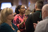 Minneapolis, MN - The PAEA 2016 Education Forum 2016 - Attendees talk during a poster session at the Physician Assistant Education Association Meeting here today, Friday October 14, 2016. Photo by © PAEA/Scott Morgan 2016 Contact Info: todd@medmeetingimages.com Keywords: