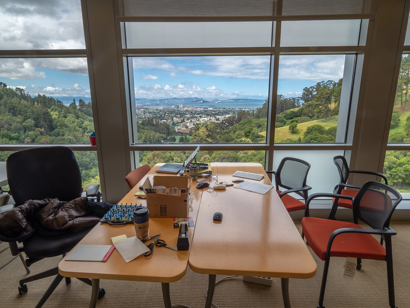 Work Space with San Francisco Bay View - Molecular Foundry Lab