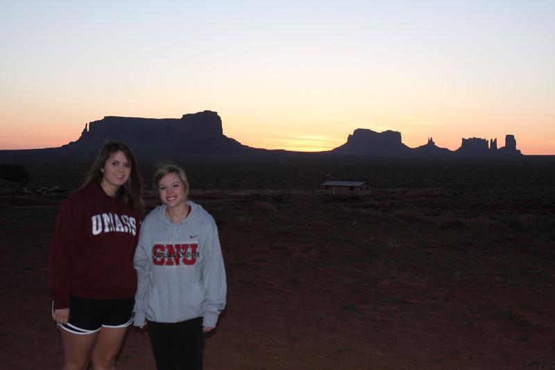 Sunrise at Monument Valley, UT