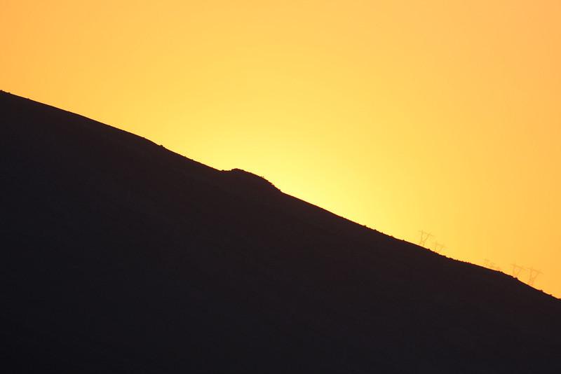 The sun set behind this ridge on the Vermillion Cliffs.