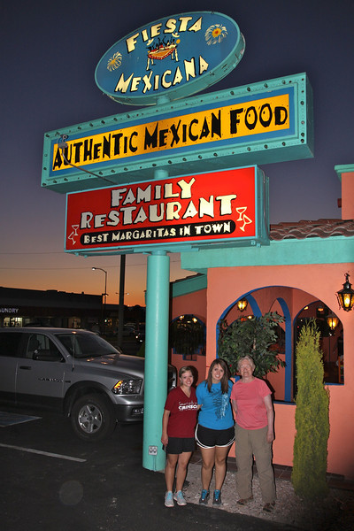 Dinner after the eclipse at the Fiesta Mexicana.