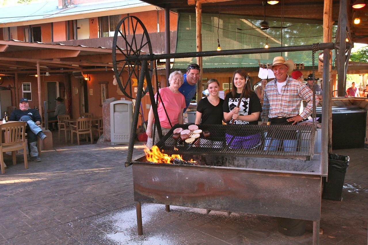 At the Swinging Steak restaurant in Medicine Hat, UT.