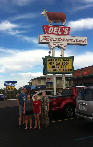 Dinner at Del's Restaurant in Tucumcari, New Mexico.  Del-icious.