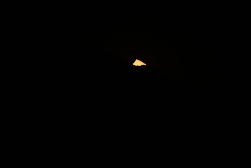 The Sun is almost set!