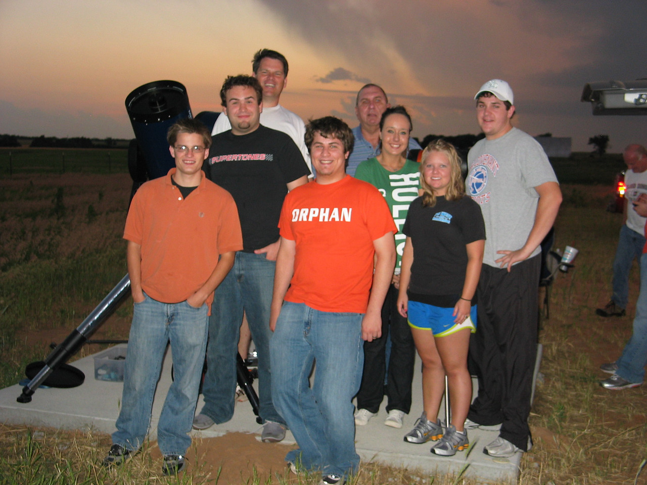 Summer astronomy class field trip out to Cheddar Ranch Observatory - a storm is about to blow in!