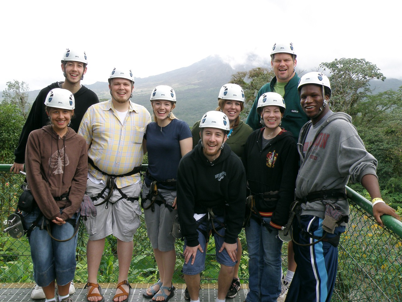 Zip-lining near Arenal