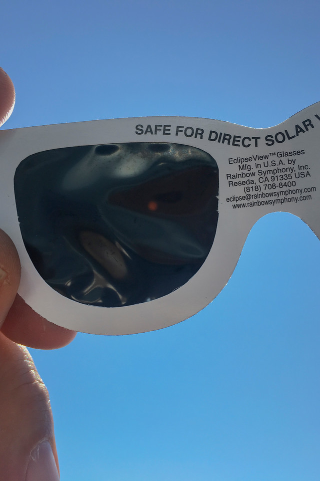 Through solar filter glasses