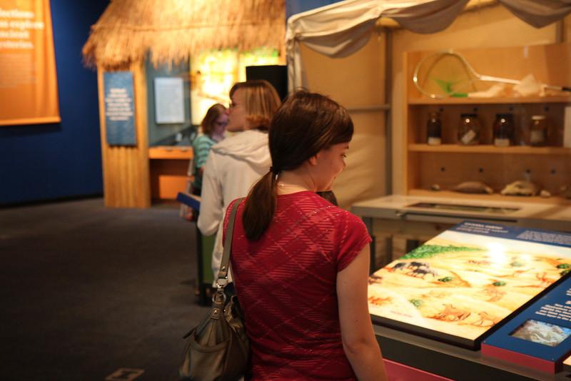 Kristin checks out the exhibits