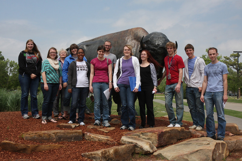 About half of the Origins class was able to make it on the field trip.