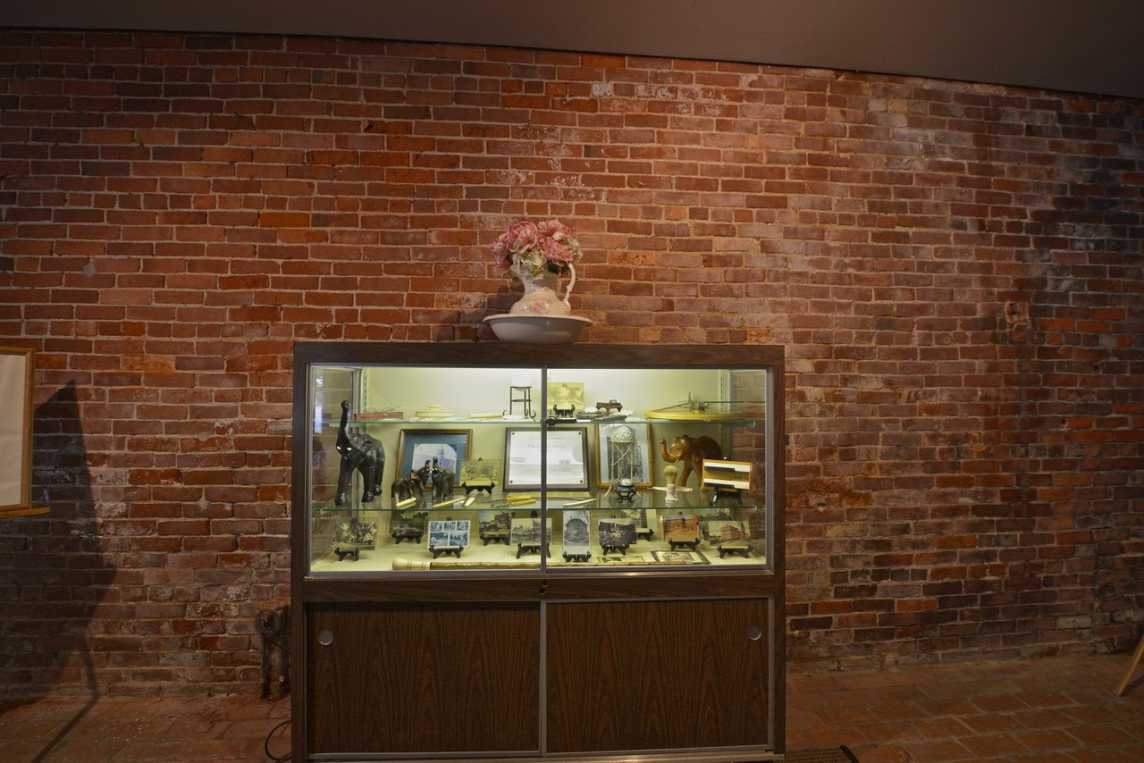This showcase displays artifacts and photos and clippings of the building's long and remarkable history. All of which is nice to know.