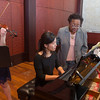UC students and faculty posed for piano collaborative photos in Robert J. Werner Recital Hall at CCM. UC/ Joseph Fuqua II