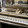 Gene Roe talks about his life and all his pianos that he has at his business Piano Conservation & Restoration in Fitchburg, August 31, 2019. SENTINEL & ENTERPRISE/JOHN LOVE