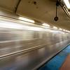 Chicago Blue Line At Washington Station
