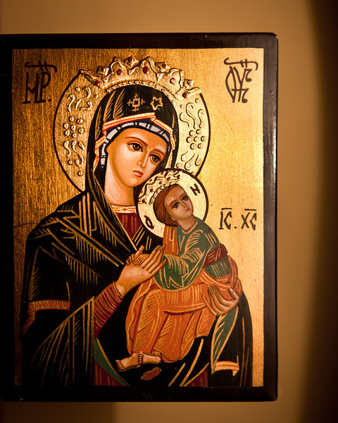 Byzantine Icon<br /> <br /> We found this beautiful Byzantine icon at the Basilica of Saint Paul Outside the Walls (October 25, 2006).  It reminds me of all the great memories we made on our trip to Italy with the girls and choir friends from St Michael the Archangel Church in Woodstock Georgia.