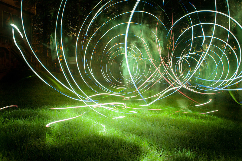 Backyard Light Painting