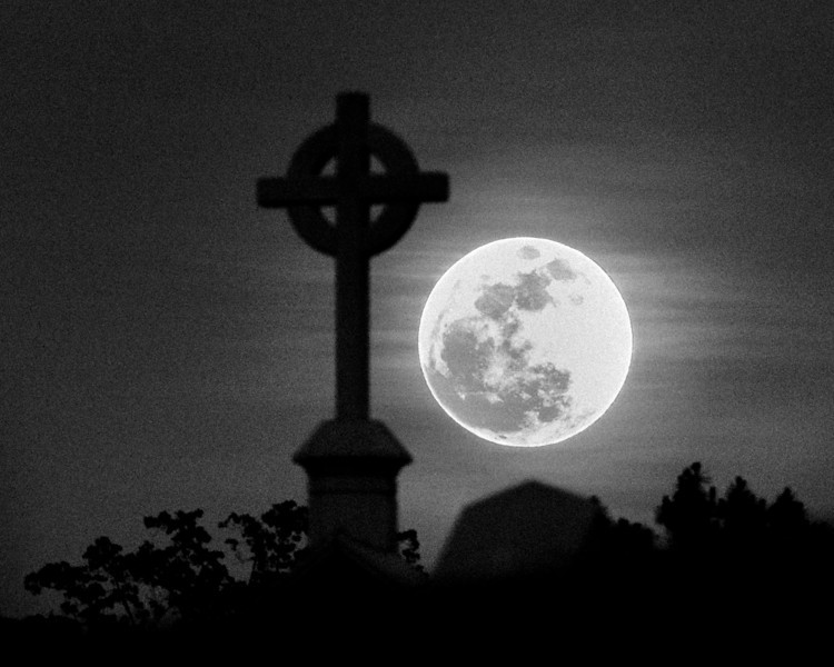 "Supermoon Over St Peter Chanel<br /> <br /> The moon was at its closest to the earth or perigee this evening.  Local moonrise there in Roswell, Georgia was 8:18pm EDT.<br /> <br /> <a href=""http://en.wikipedia.org/wiki/Supermoon"">http://en.wikipedia.org/wiki/Supermoon</a>"