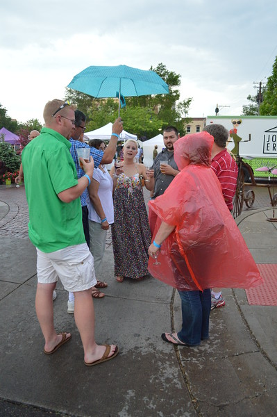 Rain Doesn't Stop the Oxford Wine Festival