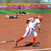 Miami Softball vs. NIU - #18 Remy Edwards Finds a Way Through for a Single