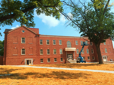 Kreger Hall upgrades ...construction fences down and nearly open for business.