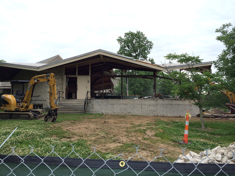 The Demolition of Alexander Dining Hall.