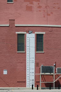 05-30-2012 ->Record floods since 1800 on the back of St Roses Church on Eastern Ave, Cincinnati