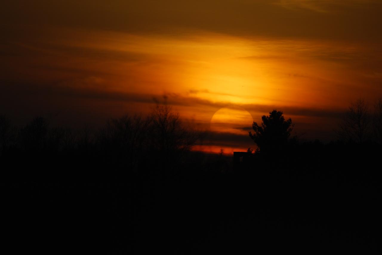 04-09-2011 - Sunset along I-65 in Indiana