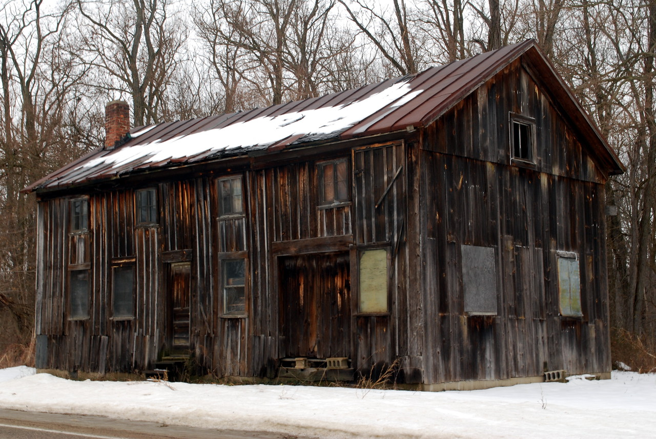 """01-15-2010 - """"Tin Roof... Rusted""""   I came across this today just outside of Otsego, MI,  It was just too interesting to just pass by."""