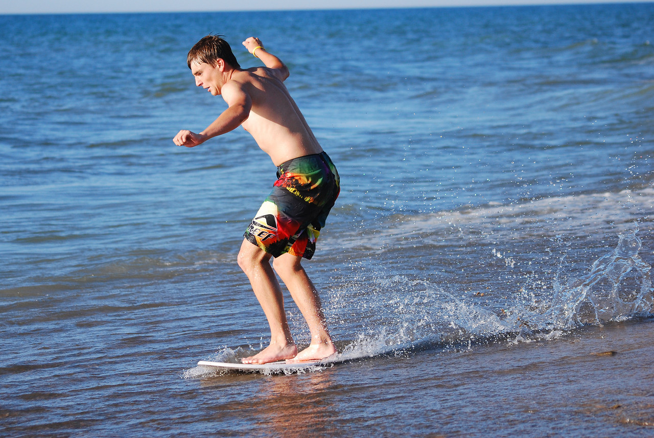 06-27-2010 - Beautiful day for a little skim boarding at the beach