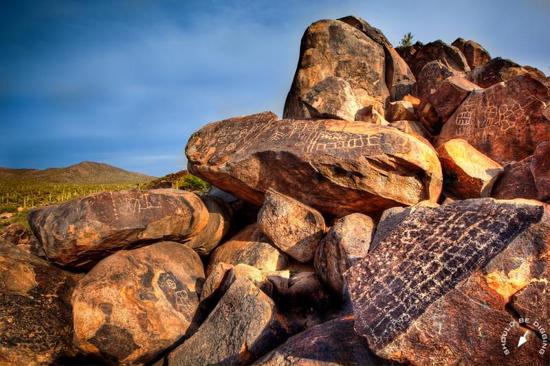 Picacho Mountains petroglyphs, Southern Arizona
