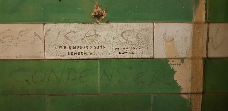 One of only two manufacturers tile stamps found here and I think at Aldwych.