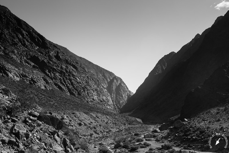 Into the Andes (B/W)