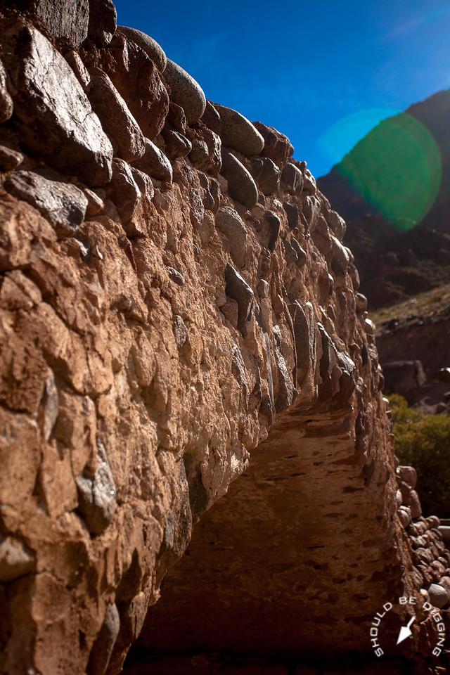 Side View of the Bridge of Picheuta