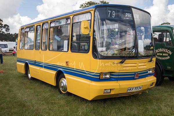 HKX 553V rare Bedford Midi 24 seater bus