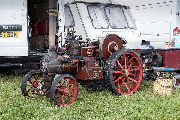 YX55 FVH minature Burrell traction engine