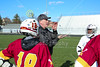 Team Captains and the Coin Toss - Westerville North High School Warriors at Pickerington High School Central Tigers - Junior Varsity - Thursday, April 19, 2018