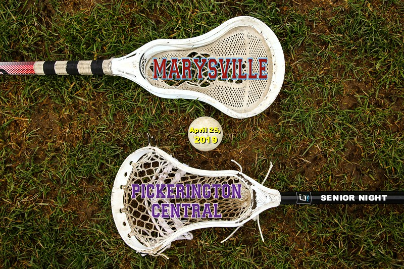 Senior Night - Marysville High School Monarchs at Pickerington High School Central Tigers - Thursday, April 25, 2019