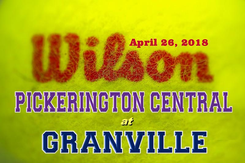 Pickerington High School Central Tigers at Granville High School Blue Aces - Thursday, April 26, 2018