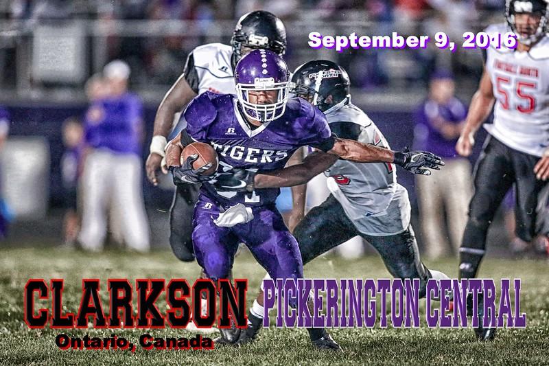 Clarkson Football North of Mississauga, Ontario, Canada at Pickerington High School Central Tigers - Friday, September 9, 2016
