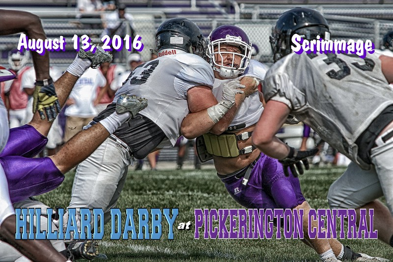 The Second Scrimmage of the Season Featured Hilliard Darby High School Panthers at Pickerington High School Central Tigers - Saturday, August 13, 2016