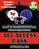Credential - Huber Heights Wayne High School Warriors versus Pickerington High School Central Tigers  - O.H.S.A.A. Playoffs played at the Neutral Site of Bowlus Stadium, Home of London High School Red Raiders - Friday, November 18, 2016