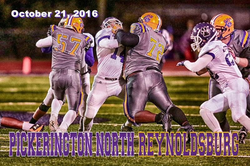 Pickerington High School Central Tigers at Reynoldsburg High School Raiders - Friday, October 21, 2016
