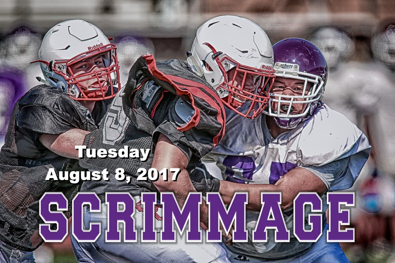 The First Scrimmage of the 2017 Season versus St. Charles Cardinals, Toledo Central Catholic Irish and Dublin Coffman Shamrocks - Tuesday, August 8, 2018