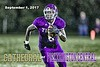 Cathedral High School Irish of Indianapolis, Indiana, at Pickerington High School Central Tigers - Rain Droplets may be visible in some photographs - Friday, September 1, 2017