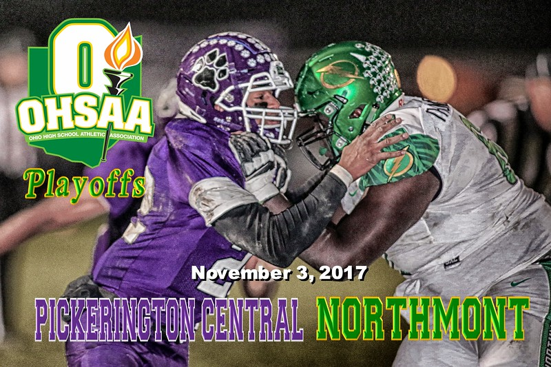O.H.S.A.A. Playoffs - 1st Round - Northmont High School Thunderbolts at Pickerington High School Central Tigers - Friday, November 3, 2017